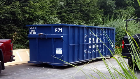 30 Cubic Yard Dumpster Rental on Large Scale Remodeling Job Blueberry Circle, Andover, MA