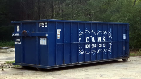 30 Cubic Yard Dumpster Rental on Large Home Demolition and Renovation Andover, MA