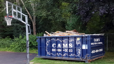 15 Cubic Yard Dumpster Rental with Flexible Dumpster Rental Pricing Available - Jobsite Abbot Bridge Drive, Andover, MA 01810