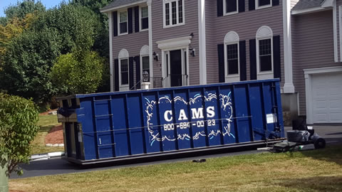 30 Cubic Yard Dumpster Rental On Home Cleanout Andover, MA