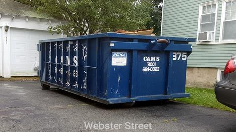 Cam's 15 Cubic Yard Dumpster Rental Customer's Jobsite Webster Street, Arlington, MA
