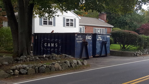 30 Cubic Yard Dumpster Rentals In Customer's Jobsite Winter Street, Belmont, MA