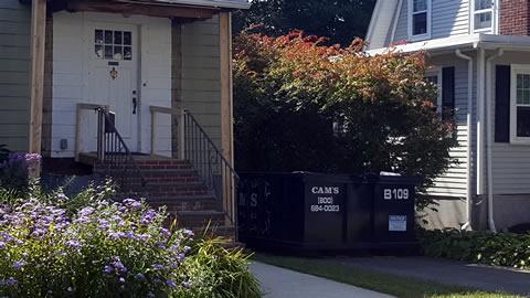 Cam's 15 Cubic Yard Dumpster Rental In Customer's Jobsite Horace Road, Belmont, MA