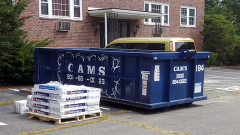 15 Cubic Yard Dumpster Rental Customer's Jobsite Cabot Street, Beverly, MA