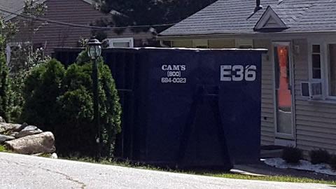 Cam's 30 Cubic Yard Dumpster Rental E56 On The Job Nashua Road, Billerica, MA