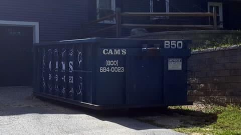 15 Cubic Yard Dumpster - Customer's Jobsite River Bank Terrace, Billerica, MA