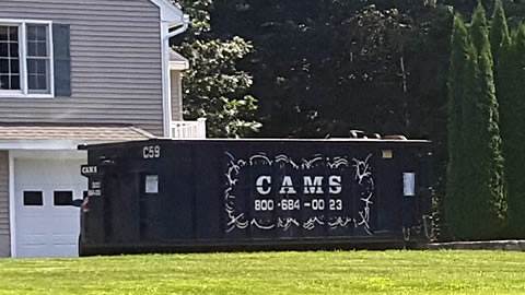 Cam's 20 Cubic Yard Dumpster Rental C59 On The Job Captains Way, Billerica, MA