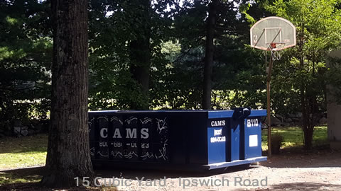 Cam's 15 Cubic Yard Dumpster Rental B110 On The Job Ipswich Road, Boxford, MA
