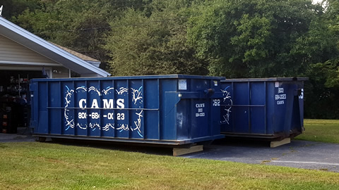 Cam's 20 Cubic Yard Dumpster Rental on Jobsite Cabot Road, Danvers, MA