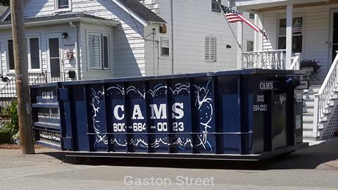 Cam's 15 Cubic Yard Dumpster Rental at Customer's Jobsite Gaston Street, Medford, MA