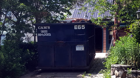 30 Cubic Yard Dumpster Rental On The Job Damon Avenue, Melrose, MA