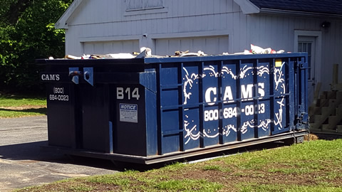 Cam's 15 Cubic Yard Dumpster Rental Reading, MA - Bay State Road