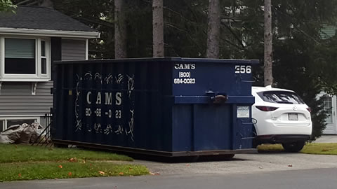 30 Cubic Yard Dumpster Rental Reading, MA - Edwin Street