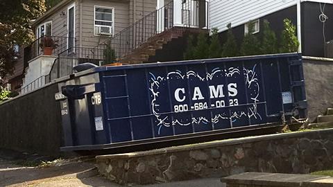 Cam's 20 Cubic Yard Dumpster Rental Revere, MA - Vane Street
