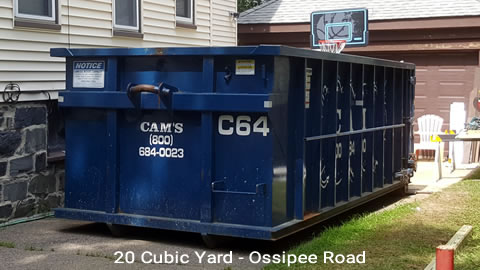 20 Cubic Yard Dumpster Rental Customer's Jobsite Ossipee Road, Somerville, MA