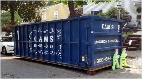 30 Cubic Yard Dumpster Rental Stoneham, MA - Walsh Avenue