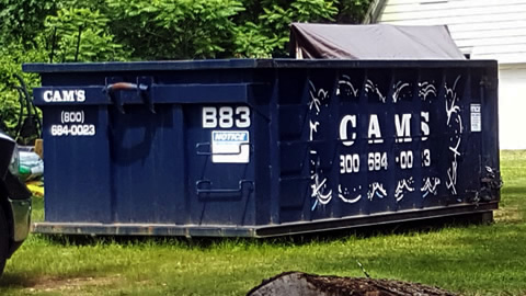 15 Cubic Yard Dumpster Rental Tewksbury, MA 01876 - Country Road