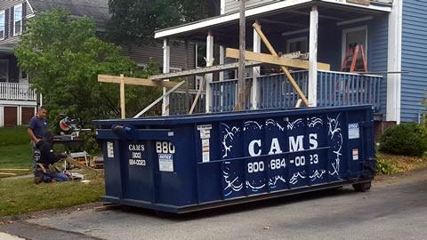 Cam's 15 Yard Dumpster Rental B80 On The Job Summer Street, Wakefield, MA