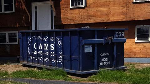 20 Cubic Yard Dumpster C39 Rental Jackson Lane, Wakefield, MA