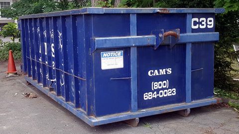 Cam's 20 Cubic Yard Dumpster Rental Wakefield, MA - Albion Street