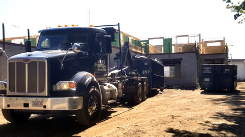 Cam's 30 yard dumpster rental F57 on the job Foundary Street, Wakefield, MA