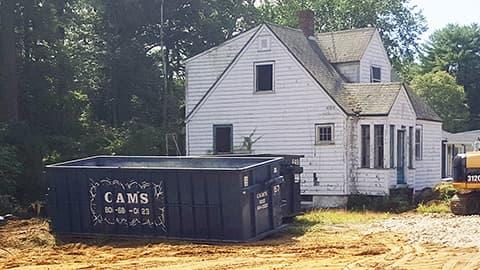30 Cubic Yard Dumpster Rental Wilmington, MA Before Demolition - Parker Street