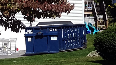 20 Cubic Yard Dumpster Rental Woburn, MA - Blueberry Hill Road